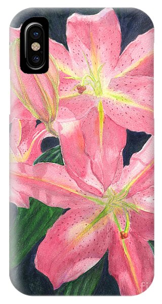 Sunlit Lilies IPhone Case