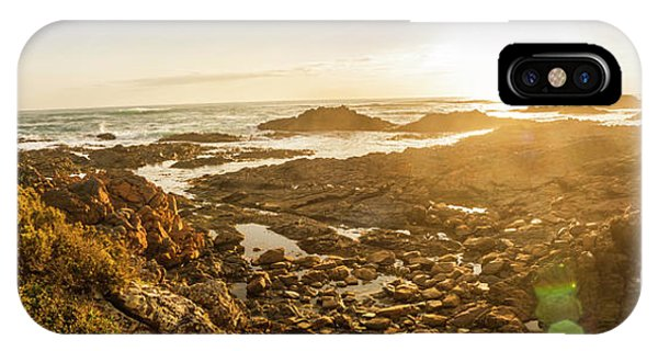 Stone Wall iPhone Case - Sunlit Seaside by Jorgo Photography - Wall Art Gallery
