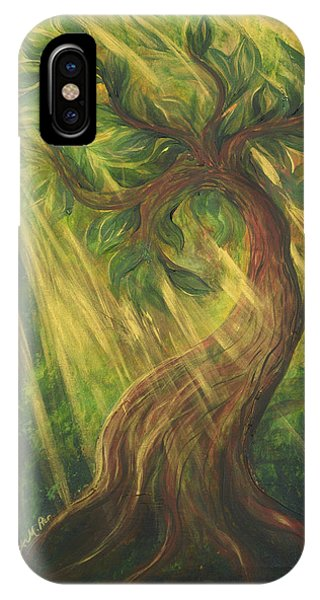 Sunlit Tree IPhone Case