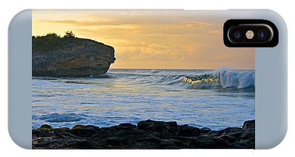 Sunlit Waves - Kauai Dawn IPhone Case