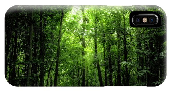 IPhone Case featuring the photograph Sunlit Woodland Path by Lars Lentz