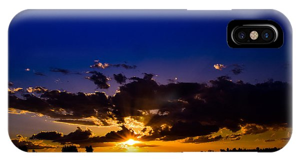 Fresno Silhouette iPhone Case - Sunnset by Kimberly Cavazos