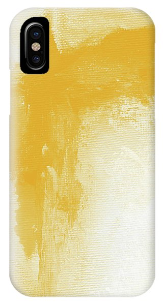 Mustard iPhone Case - Sunny Day- Abstract Art By Linda Woods by Linda Woods