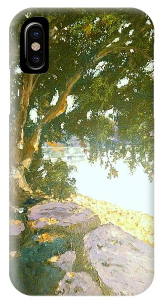 Sunny Day By An Old Tree IPhone Case