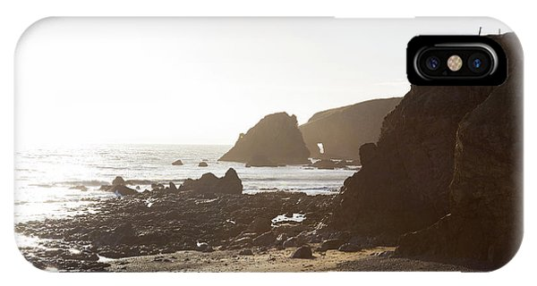 Sunny Day On A Rocky Rugged Beach In Ireland IPhone Case