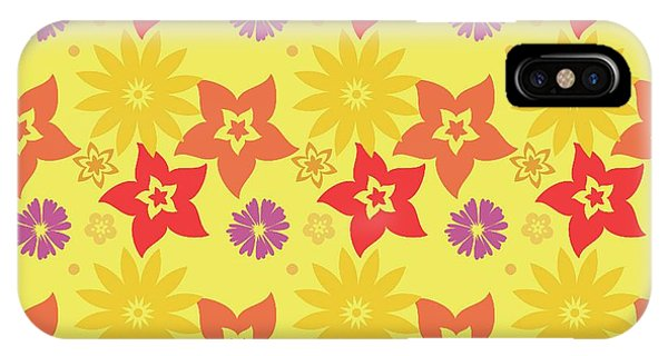 IPhone Case featuring the digital art Sunny Flowers by Becky Herrera