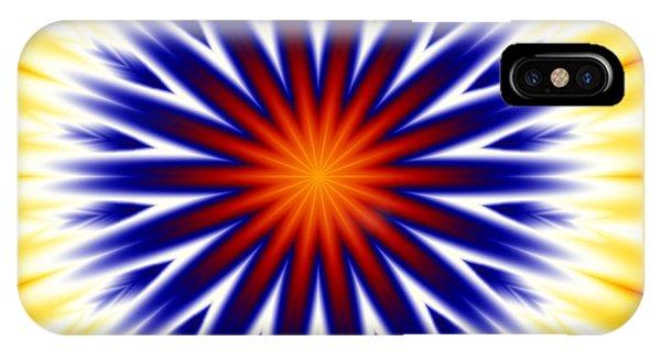 Sunny Fractal Tie Dye IPhone Case