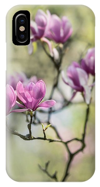 Sunny Impression With Pink Magnolias IPhone Case