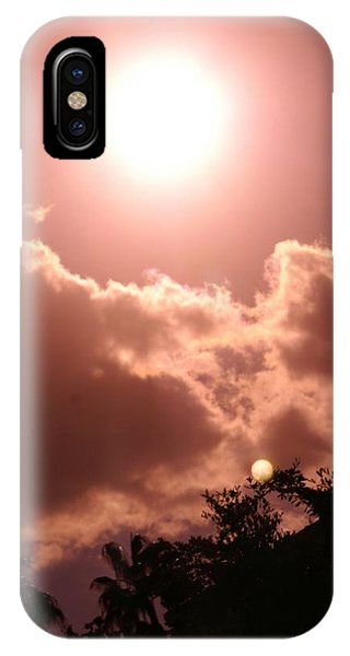 sunny Moon Phone Case by Florene Welebny