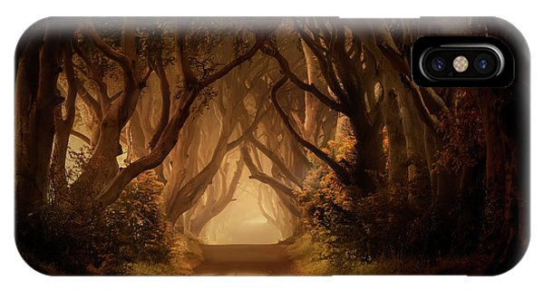 Sunny Morning In Dark Hedges IPhone Case