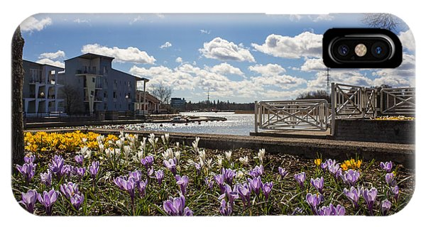 Sunny Spring Flowers In Helsinki IPhone Case