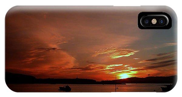 Sunraise Over Lake IPhone Case