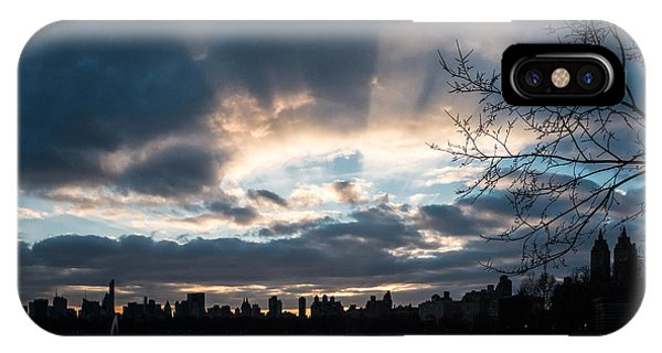 Sunrays Over Manhattan IPhone Case