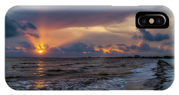 Fort iPhone Case - Sunrays Over The Gulf Of Mexico by Tom Mc Nemar