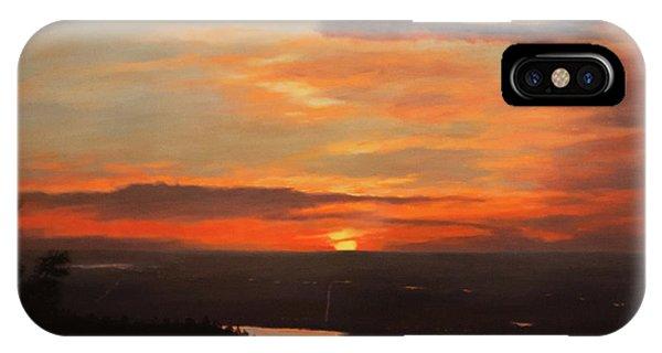 Sunrise Above Boulder IPhone Case