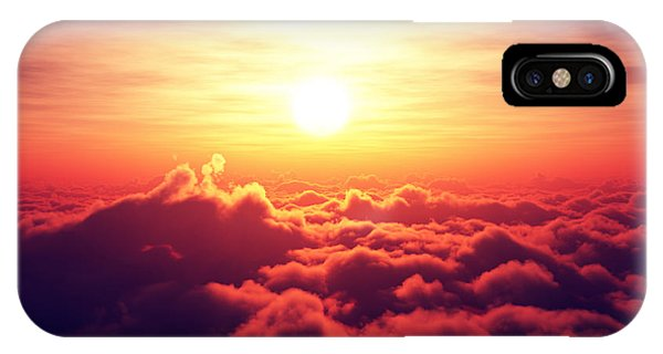 Cloud iPhone Case - Sunrise Above The Clouds by Johan Swanepoel