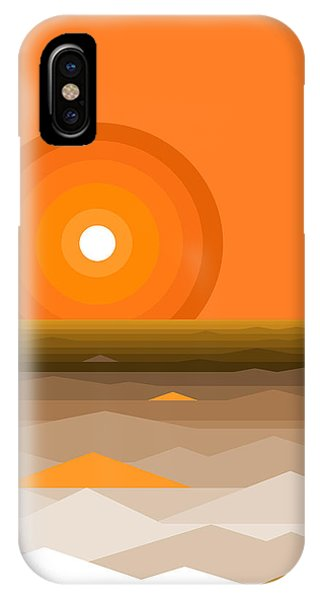 Sunrise Abstract In Orange IPhone Case