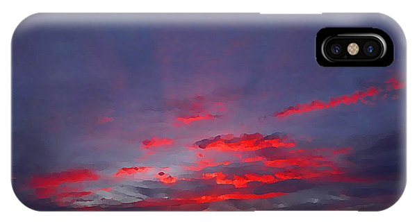 Sunrise Abstract, Red Oklahoma Morning IPhone Case