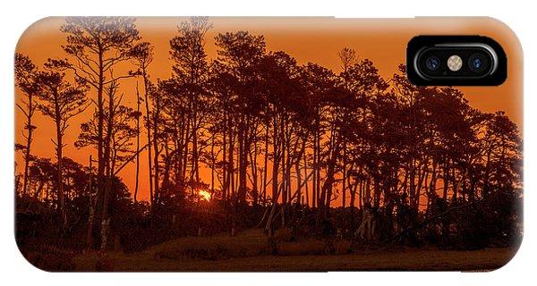 Sunrise Along A Tree Line IPhone Case