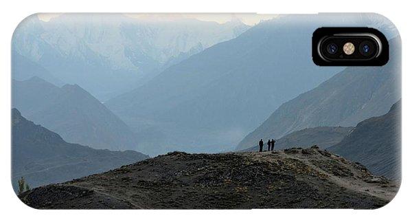 Sunrise Among The Karakoram Mountains In Hunza Valley Pakistan IPhone Case