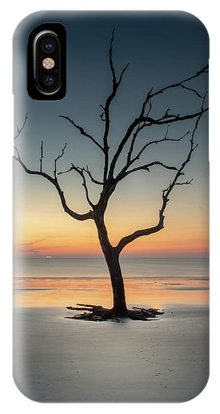 Sunrise And A Driftwood Tree IPhone Case