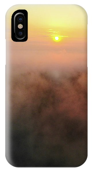 IPhone Case featuring the photograph Sunrise And Morning Fog Warm Orange Light by Matthias Hauser