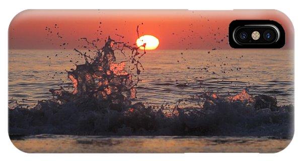 Sunrise And Splashes IPhone Case