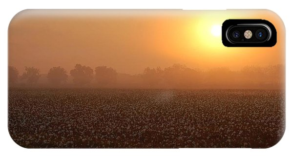 Sunrise And The Cotton Field IPhone Case
