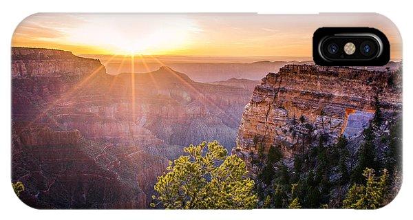Sunrise At Angel's Window Grand Canyon IPhone Case