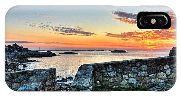 Sunrise At Castle Rock Marblehead Ma IPhone Case