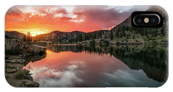 Sunrise At Cecret Lake IPhone Case