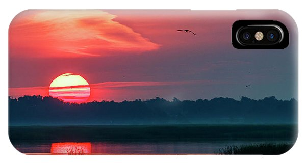 IPhone Case featuring the photograph Sunrise At Cheyenne Bottoms 03 by Rob Graham