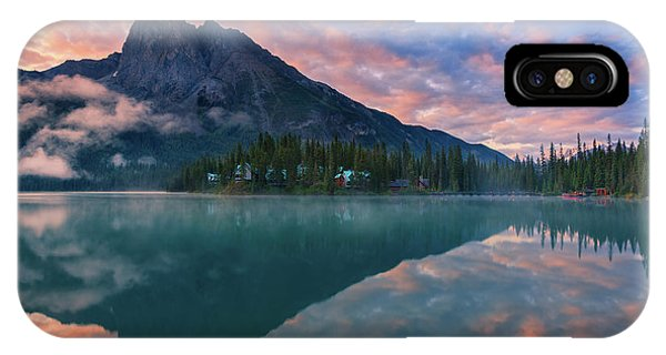 Rocky Mountain Np iPhone Case - Sunrise At Emerald Lake by Henk Meijer Photography
