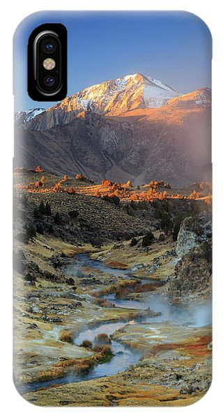Mammoth Hot Springs iPhone Case - Sunrise At Hot Creek. by Johnny Adolphson