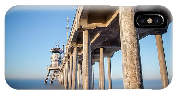 Sunrise At Huntington Beach Pier IPhone Case