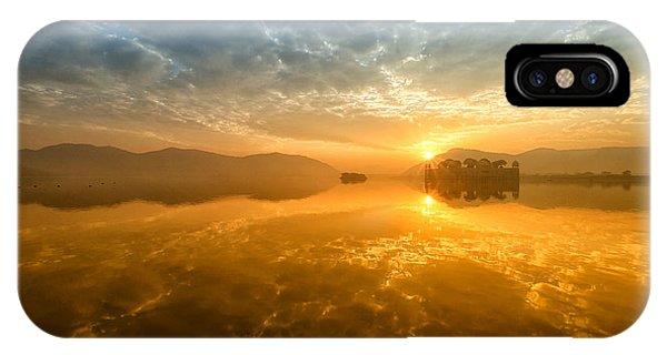 Sunrise At Jal Mahal IPhone Case
