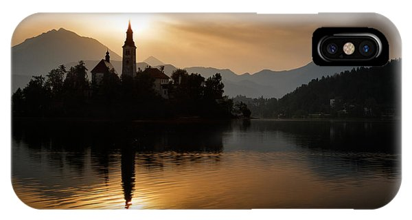 Sunrise At Lake Bled IPhone Case