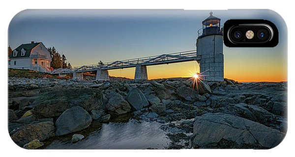 Navigation iPhone Case - Sunrise At Marshall Point by Rick Berk