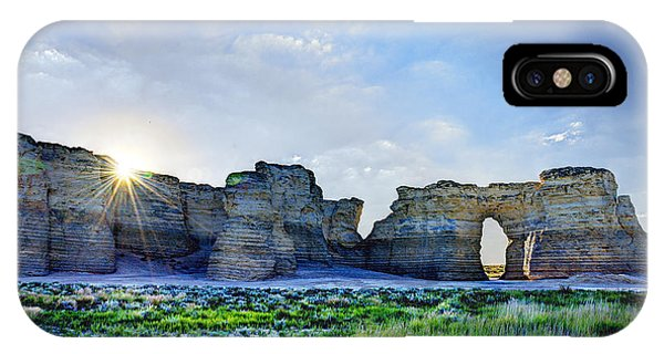 Sunrise At Monument Rocks IPhone Case