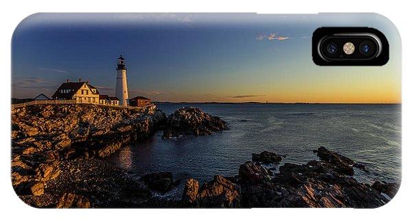Sunrise At Portland Headlight IPhone Case