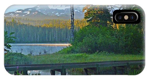 Sunrise At Takhlakh Lake Under Mt Adams IPhone Case