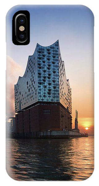 Sunrise At The Elbe Philharmonic Hall IPhone Case