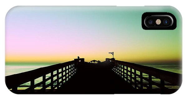 Sunrise At The Myrtle Beach State Park Pier In South Carolina Us IPhone Case