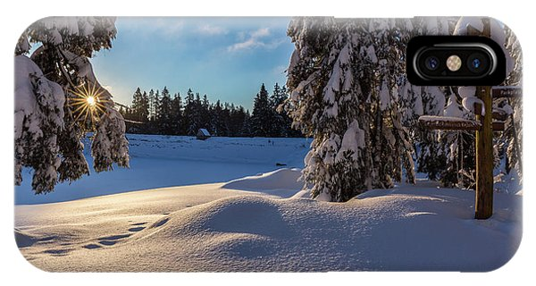 sunrise at the Oderteich, Harz IPhone Case