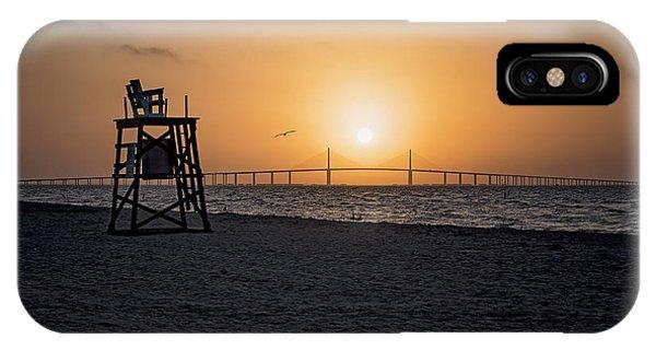 Sunrise At The Skyway Bridge IPhone Case