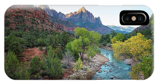 Sunrise At The Watchman - Zion National Park - Utah IPhone Case