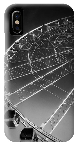 Sunrise At The Wheel In Black And White IPhone Case