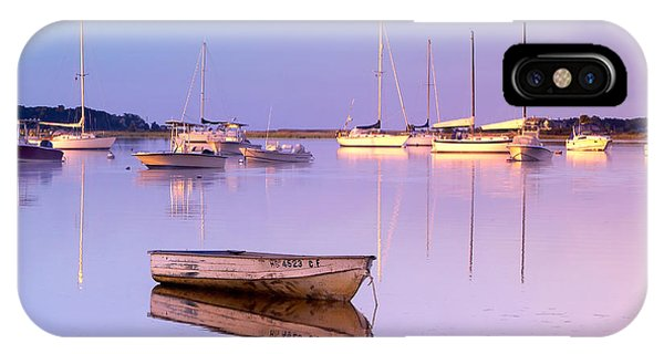 Powerboat iPhone Case - Sunrise At West Bay Osterville Cape Cod by Matt Suess