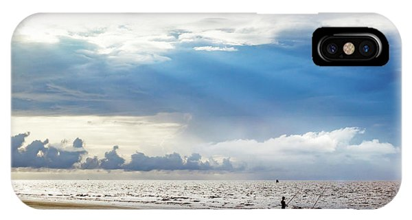 Sunrise Beach Fishing IPhone Case