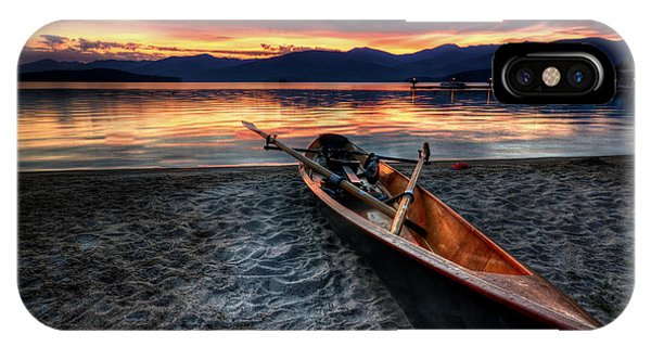 Boats iPhone X Case - Sunrise Boat by Matt Hanson
